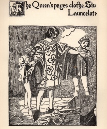 The Queen's Pages Clothe Sir Launcelot