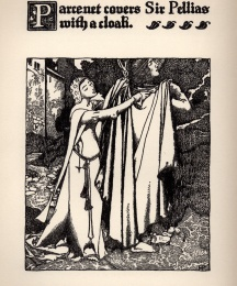 Parcenet Covers Sir Pellias with a Cloak