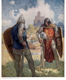 I am Sir Launcelot du Lake, King Ban's son of Benwick, and knight of the Round Table