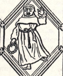 Friar, excerpt of the Betley Window
