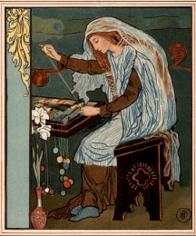 The Lady of Shalott Weaving