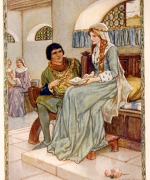 Sir Launcelot and the Queen Talked Sadly Together