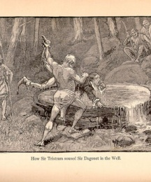 How Sir Tristram Soused Sir Dagonet in the Well