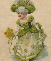 Back cover depicting a young Cinderella