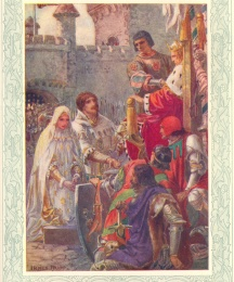 The Lovers appear before King Arthur