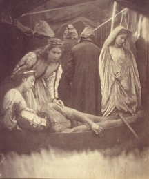King Arthur Wounded Lying in the Barge
