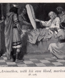 Joseph of Arimathea, with his own blood, marked the cross