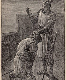 Sir Galahad Receives his Father's Blessing