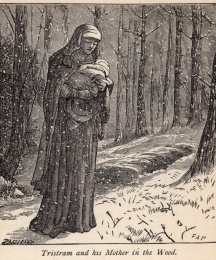 Tristram and His Mother in the Woods