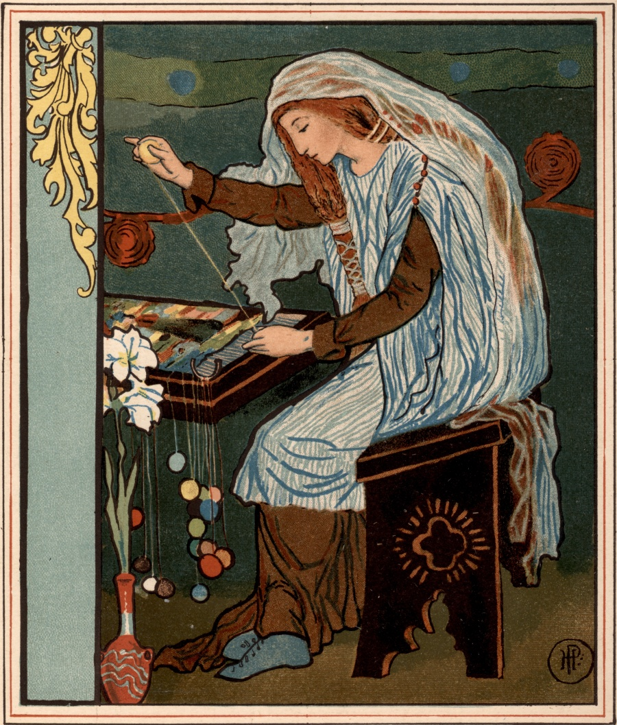 The Lady Of Shalott Weaving Robbins Library Digital Projects