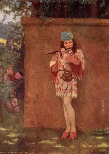 """All Day Long He Was Singing or Whistling On His Flute"""