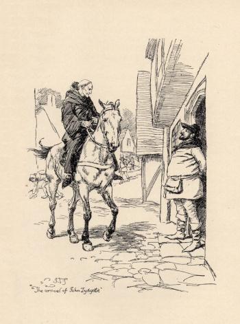 """""""The arrival of John Lydgate."""""""