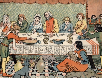 Dinner in the Olden Time