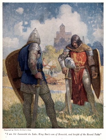 """I am Sir Launcelot du Lake, King Ban's son of Benwick, and knight of the Round Table"""