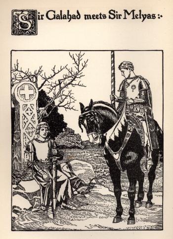 Sir Galahad Meets Sir Melyas