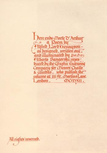 Here ends Morte D'Arthur [Colophon]