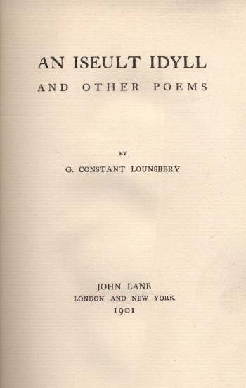 Iseult Idyll and Other Poems, An