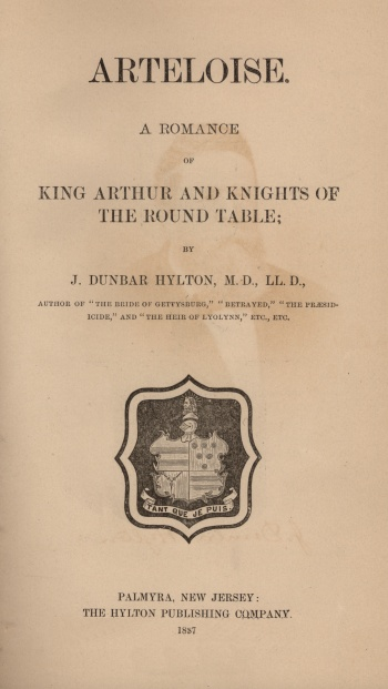 Arteloise: A Romance of King Arthur and Knights of the Round Table