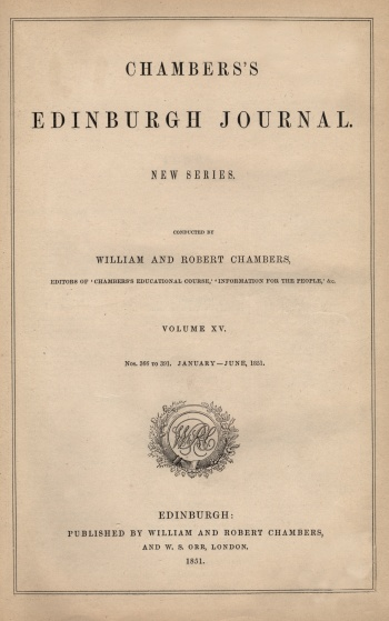 Chambers's Edinburgh Journal