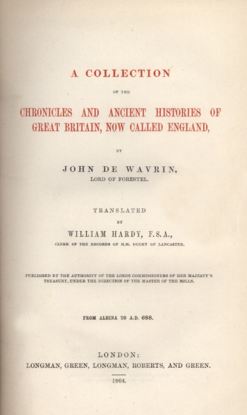 Collection of the Chronicles and Ancient Histories of Great Britain, Now Called England, A