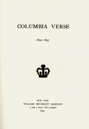 Columbia Verse 1892-1897
