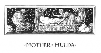 """The headpiece of Mother Hulda."""