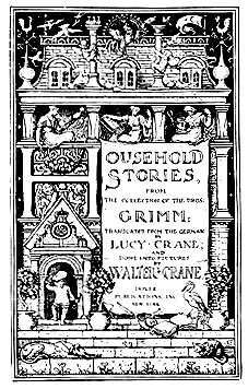 "Title page of ""Household Stories."""