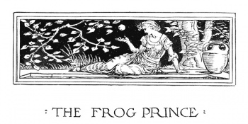 """Headpiece of ""The Frog Prince""."""