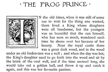 """The Frog Prince and the golden ball."""