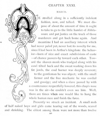 Initial Letter (Chapter XXXI)