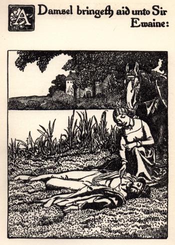 A Damsel Bringeth Aid unto Sir Ewaine