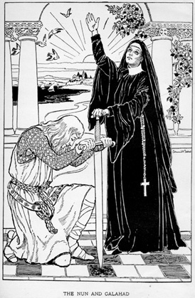 The Nun and Galahad