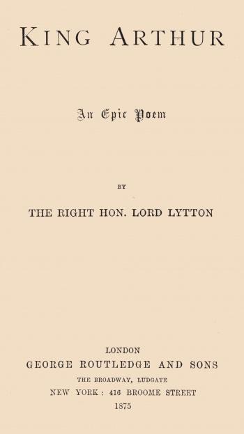 King Arthur: An Epic Poem