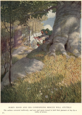 Robin Hood and His Companions Rescue Will Stutely (Frontispiece)