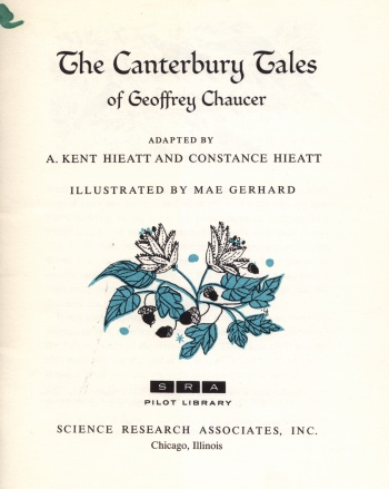 Canterbury Tales of Geoffrey Chaucer