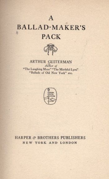 Ballad-Maker's Pack, A