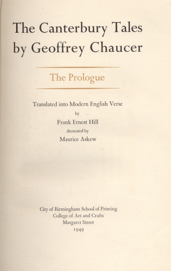 Canterbury Tales by Geoffrey Chaucer: The Prologue, The