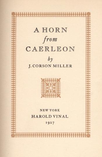 Horn from Caerleon, A