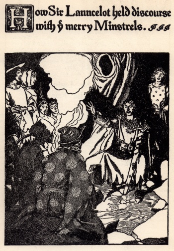 How Sir Launcelot Held Discourse with ye Merry Minstrels