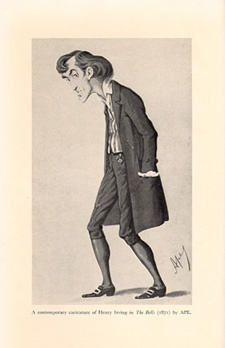 A Contemporary Caricature of Henry Irving