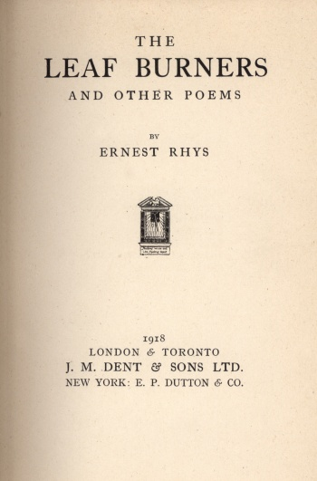 Leaf Burners and Other Poems, The