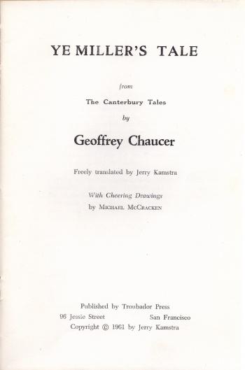Ye Miller's Tale