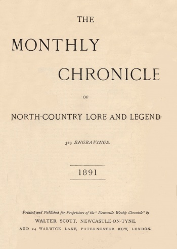 Monthly Chronicle of North-Country Lore and Legend, The