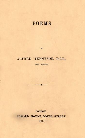 Poems [The Moxon Tennyson]