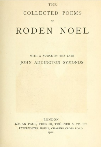 Collected Poems of Roden Noel