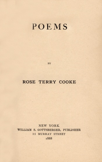 Poems [by Rose Terry Cooke]
