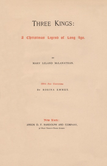 Three Kings: A Christmas Legend of Long Ago