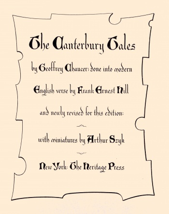 Canterbury Tales by Geoffrey Chaucer: Done into Modern English Verse, The