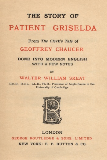 Story of Patient Griselda, The