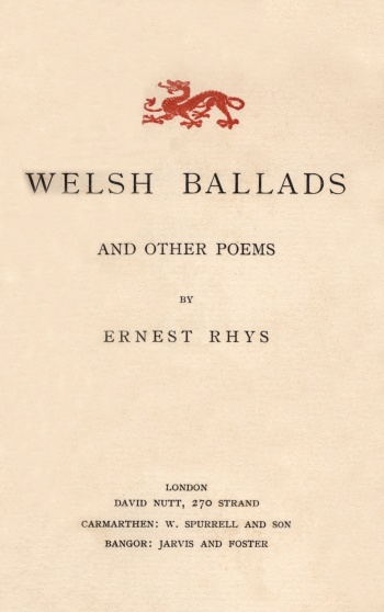 Welsh Ballads and Other Poems